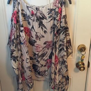 Jennifer Lopez Floral Cape Blouse XL